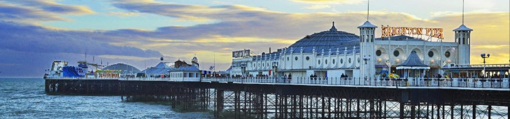 Brighton Pier at Dusk by Luke Andrew Scowen via Flickr